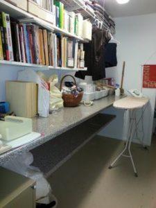 Craft storage room is organized