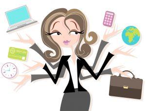Woman multitasker