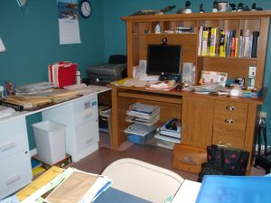 Clutter hinders office work and creativity