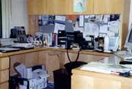 Disorganized work area